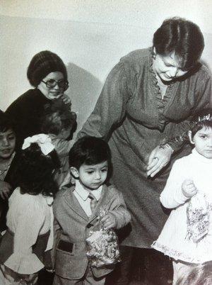 At the Kindergarten, in 1984.