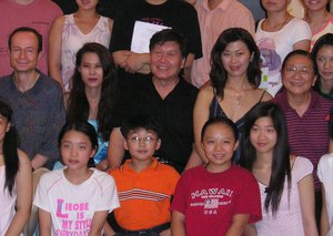 Mr. Chengzong Yin and his students (George Li is right in front of Mr. Yin)