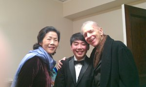 George and his teachers Wha Kyung Byun and Russell Sherman.
