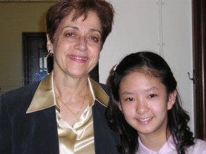 After the Menuhin Competition in 2004, with her teacher Miriam Fried