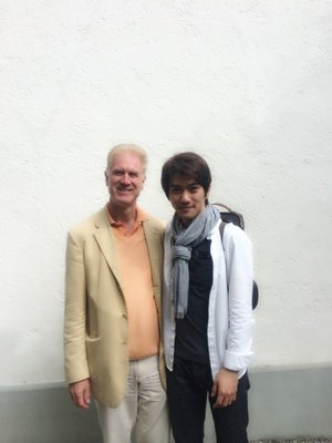 With his teacher Prof. Christoph Poppen