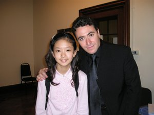 With Maxim Vengerov in 2004, after the Menuhin Violin Competition
