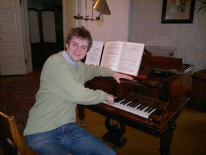 With the piano of Rimsky-Korsakov, in his native house in Tichvin, 2012